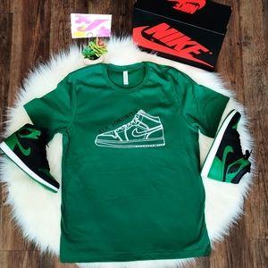 "Nike Air Jordan 1 ""Pine Green"" Custom Shirt"